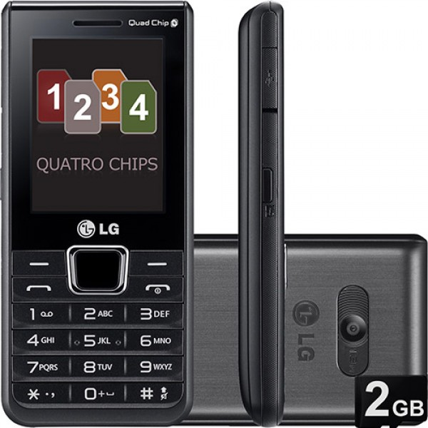 104352 LG A395 preto 600x600 Celular 4 Chips em Promoção, Onde Comprar