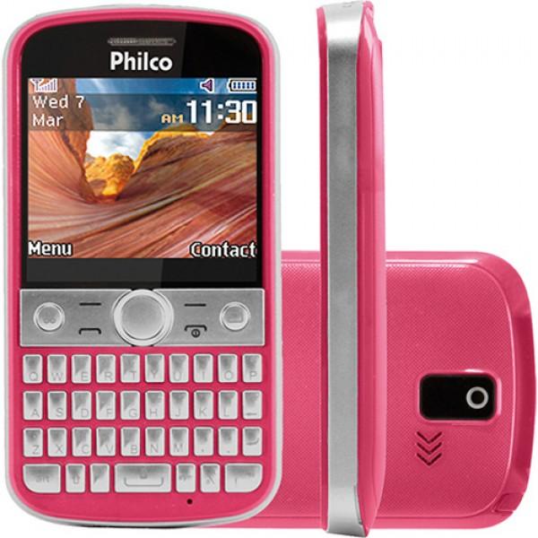 104352 philco rosa 600x600 Celular 4 Chips em Promoção, Onde Comprar