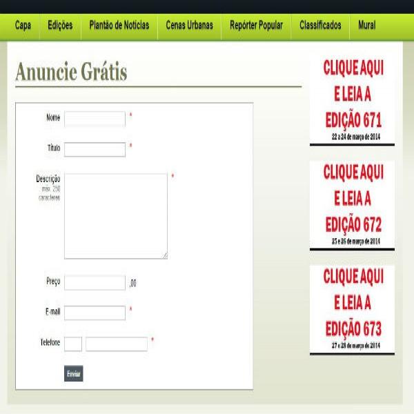 111513 anuncie gratis classificados online 600x600 Classificados O Popular Anunciar Grátis Online