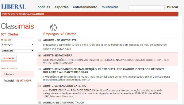 118486 classimais jornal o liberal Jornal O Liberal Empregos