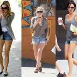 129654 short jeans com bainha desfiado ou dobrado 150x150 Shorts Curtos da Moda 2011