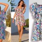 133259 vestidos floridos 150x150 Vestidos de Praia Verão 2011