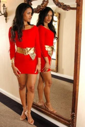 143979 acess%C3%B3rios dourados d%C3%A3o charme Vestidos Curtos Vermelhos Dicas, Fotos