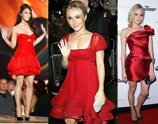 143979 vestido para a noite Vestidos Curtos Vermelhos Dicas, Fotos