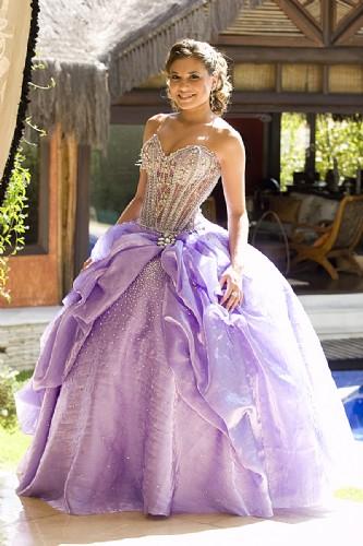 144462 bordado em p%C3%A9rolas Vestidos para Debutantes, Fotos, Modelos