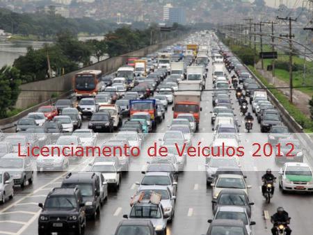 148131 licenciamento veiculos 2012 Licenciamento De Veículos 2012
