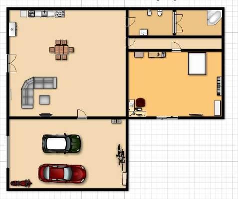 158105 Projeto de casa em formato de L 11 Planta de Casa em L