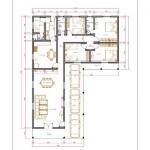 158105 Projeto de casa em formato de L 4 150x150 Planta de Casa em L