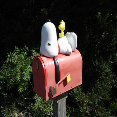 160804 Caixa de correio snoopy Caixas de Correio Modelos e Fotos