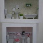 162085 cenário de banheiro em miniatura 150x150 Quadros decorativos para banheiro