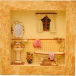 162085 coração em amarelo 150x150 Quadros decorativos para banheiro