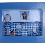 162085 decoração para banheiro em azul 150x150 Quadros decorativos para banheiro