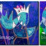 162085 quadro abstrato 150x150 Quadros decorativos para banheiro