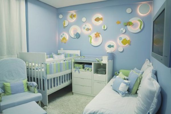 de quarto de bebe masculino fotos4 150x150 Decoração de Quarto de