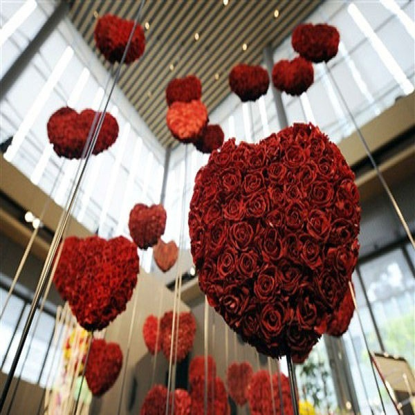 177691 decoração coração romantica 600x600 Decoração Com Corações