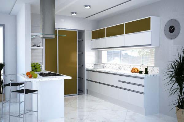 181357 a escolha dos moveis e eltrodomesticos %C3%A9 muito importante Cozinhas Planejadas para Apartamentos Pequenos