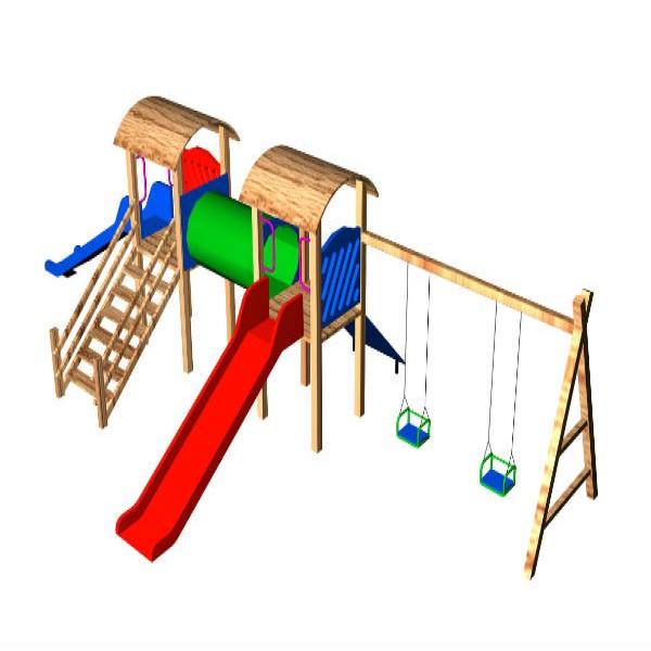 187257 projeto playgound de madeira para crianças 600x600 Playground Infantil de Madeira Preço, Onde Comprar