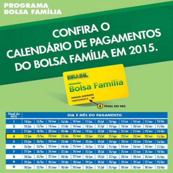 190759 Calendario Bolsa Familia 2015 600x600 Programa Bolsa Família 2015: Inscrição, Calendário, Pagamento