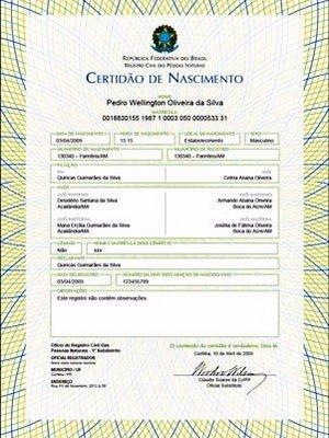2 via certidao nascimento gratuita 2 Via Certidão de Nascimento Gratuita