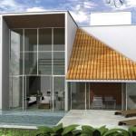 Projeto economico de casa moderna