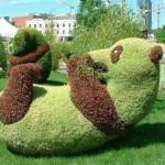 Estátua viva de panda. (Foto: Divulgação)