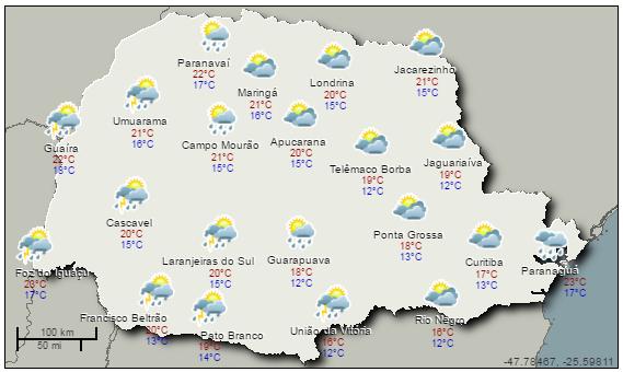Simepar Curitiba PR - Clima Tempo