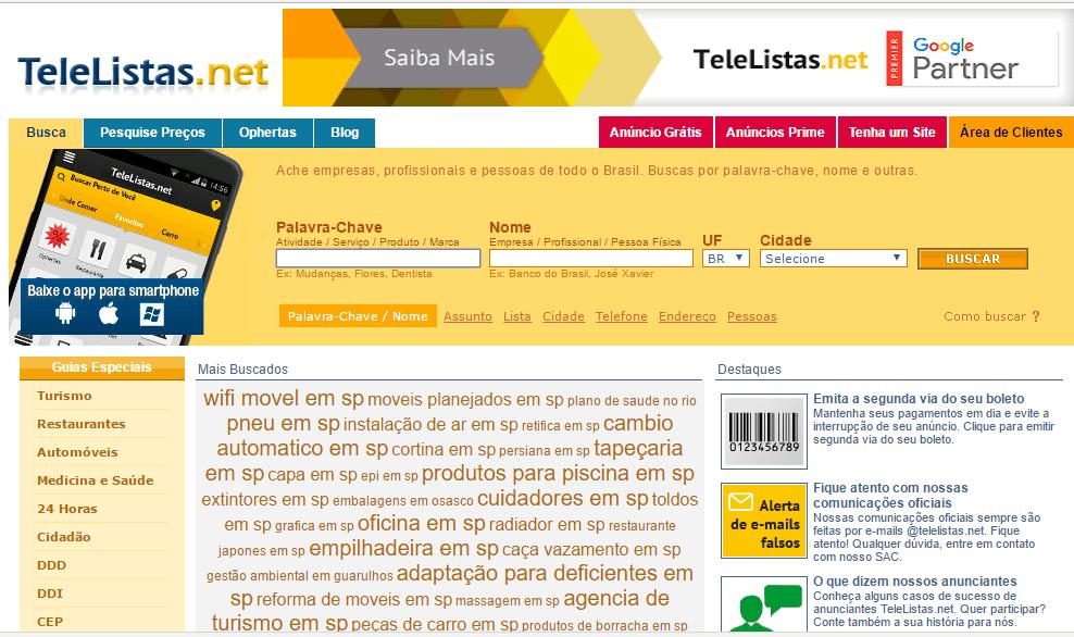 Telelistas.net – Lista Telefônica