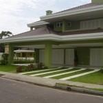 Frente de Casas Residenciais Decoradas Com Jardim Fotos3