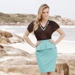 Combinação de saia com blusa. (Foto: Divulgação)