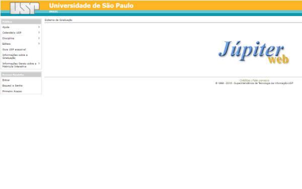 Jupiterweb USP – Sistema USP de Graduação