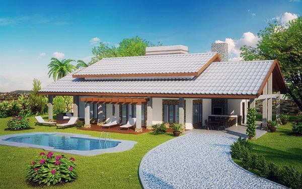 Planta de casas de fazenda for Casa moderna 80m2