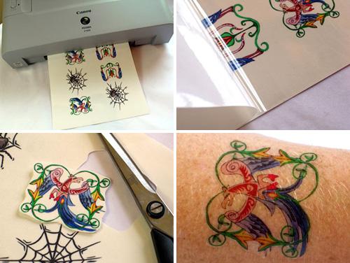 Tatuagens Temporárias Adesivas Para o Corpo