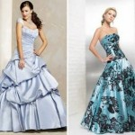 Vestido floral e liso