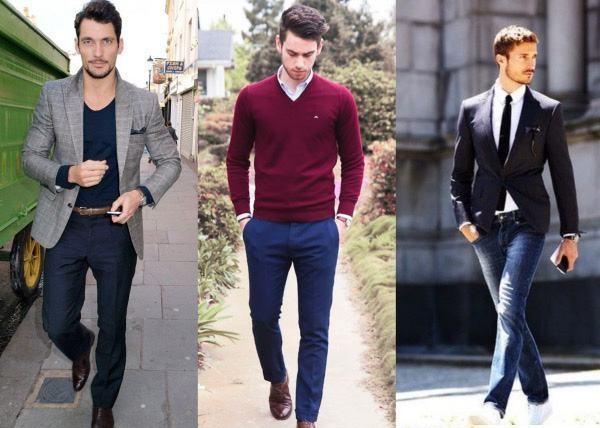 Traje com calça jeans