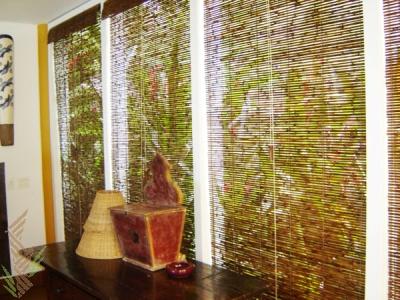 Decora o com cortinas de bambu mundodastribos todas - Cortinas de esparto ...
