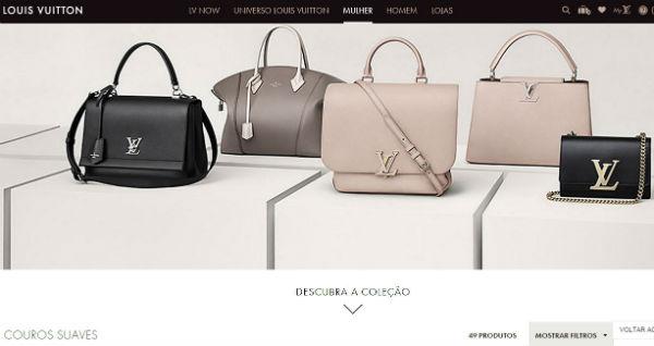 Louis Vuitton Brasil, Site www.louisvuitton.com