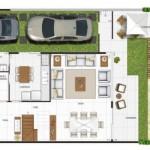 A planta de casa no fundo do terreno é ideal para construir edícula. (Foto: Divulgação)