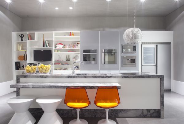 Cozinha Com Eletrodomésticos Embutidos Fotos