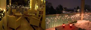 Decoração de Natal para Sacada