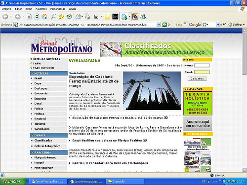 Jornal Metropolitano SC Empregos