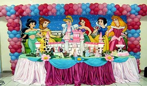 Decoraç u00e3o Das Princesas Para Festa Infantil -> Decoração De Festa Das Princesas Da Disney