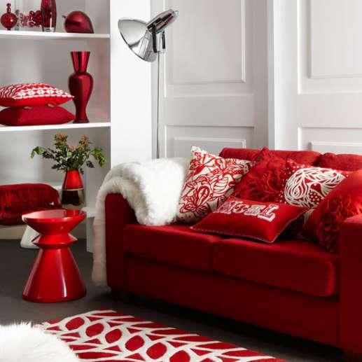 Decoracao De Sala Vermelho ~ Decoração de Sala com Sofá Vermelho  MundodasTribos – Todas as