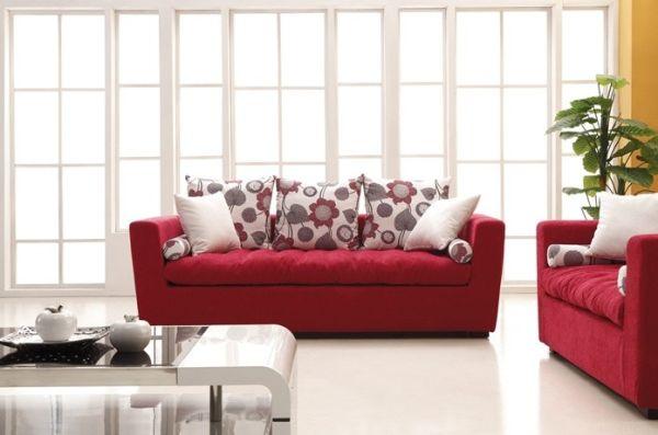 Decora 231 227 O De Sala Com Sof 225 Vermelho
