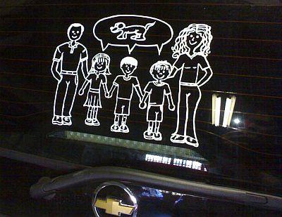 Adesivos para Carros Família
