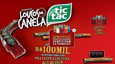 Promoção Tic Tac Loucos por Canela