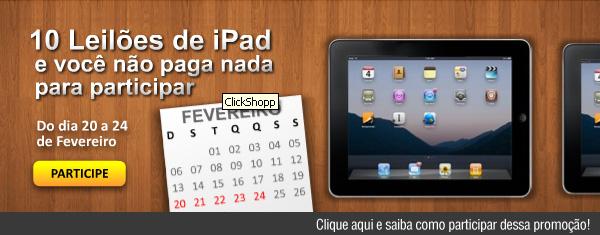 Ganhe um iPad apenas com alguns Clicks