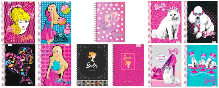 Linha de Cadernos Barbie