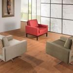 As cores e os contrastes da mobilia proporcionam harmonia ao ambiente