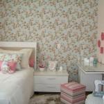 papel de parede floral para quarto