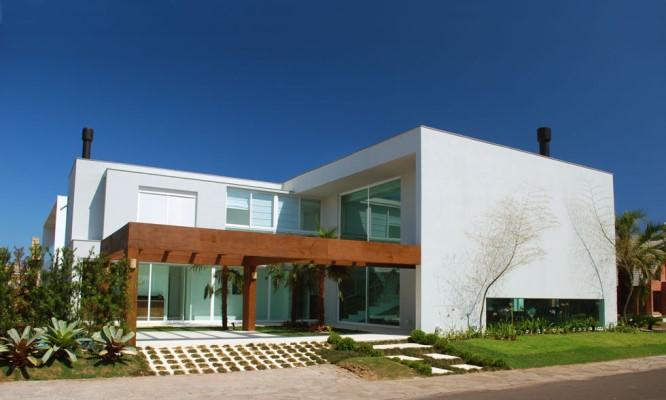 Projeto de casa em formato de L. (Foto: Divulgação)